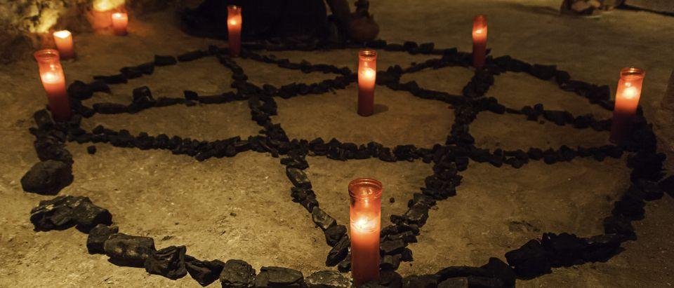 Satanic Temple ritual circle