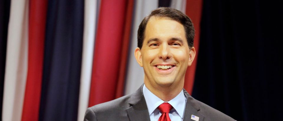 Gov. Walker And Democratic Challenger Mary Burke Debate In Milwaukee