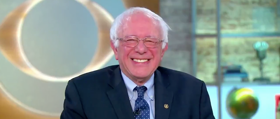 Bernie Sanders appears on CBS This Morning (PHOTO:Screenshot/CBS)