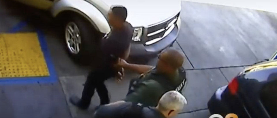 Illegal immigrant arrested for murder (@CBSLA YouTube screenshot)