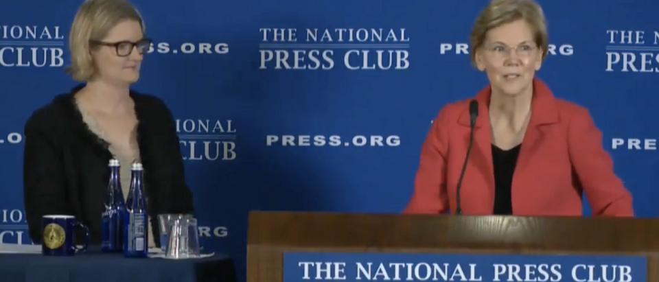 Elizabeth Warren dodgers question on AOC (Screenshot from YouTube @GOP)