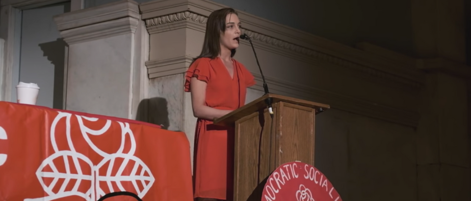Julia Salazar Giving Speech To DSA