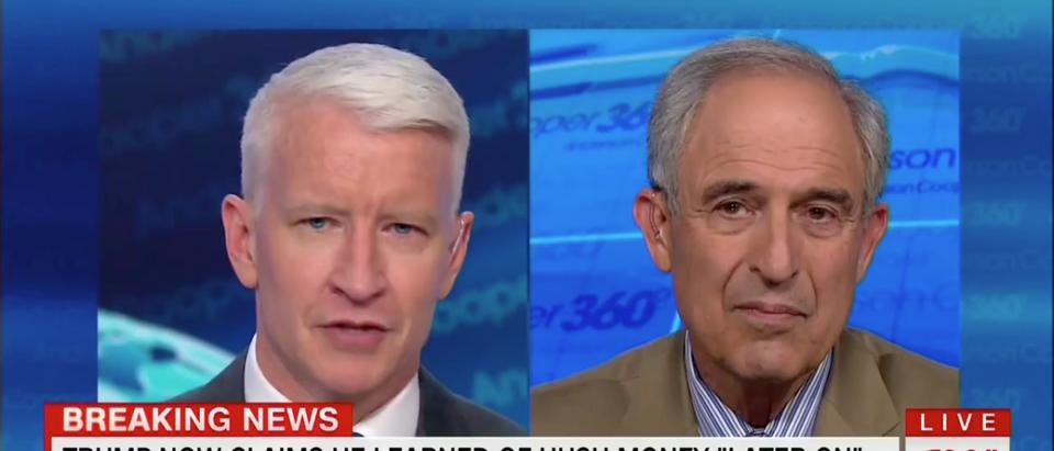 Anderson Cooper Interviews Lanny Davis (CNN Screenshot: August 22, 2018)
