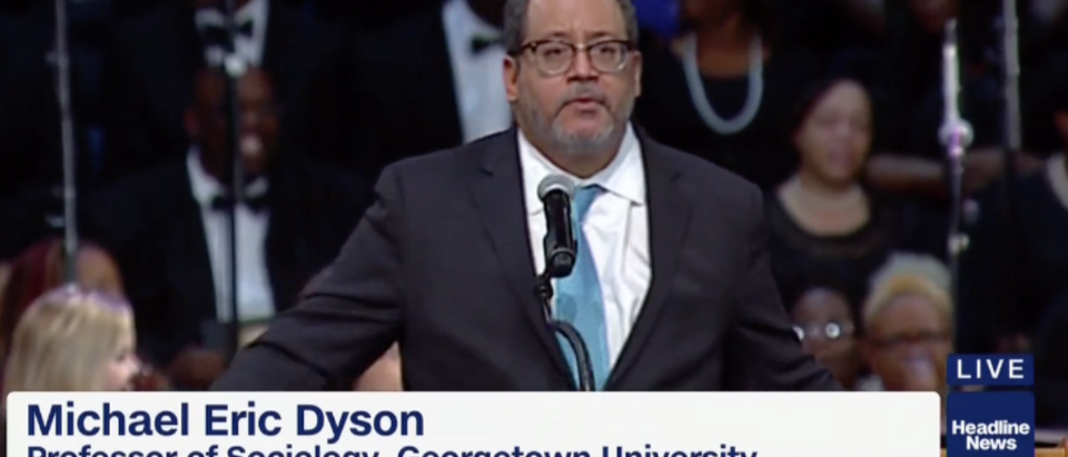 Michael Eric Dyson at Aretha Franklin's funeral (HLN 8/31/2018)