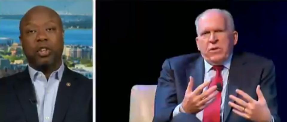 Sen Tim Scott discusses Trump Russia collusion (Fox News screengrab)