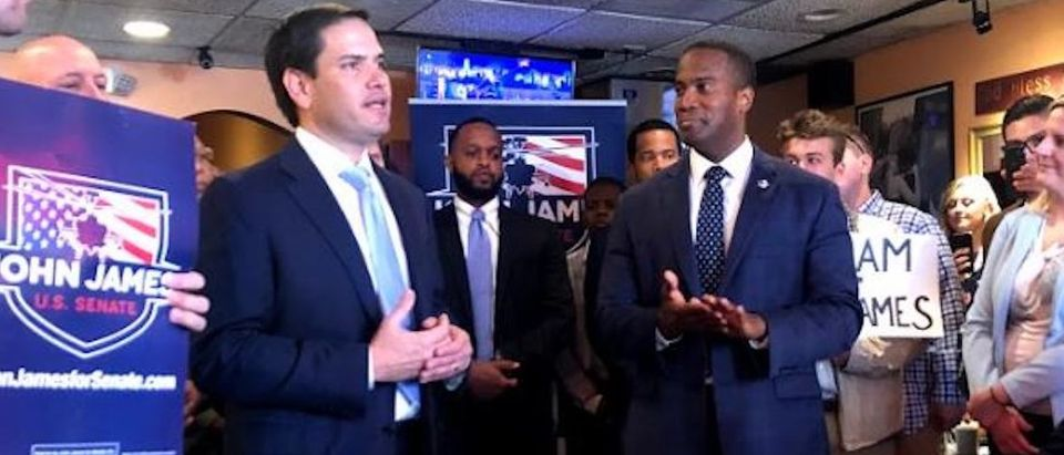 Sen. Marco Rubio campaigns for Michigan Senate candidate John James Photo obtained by TheDCNF