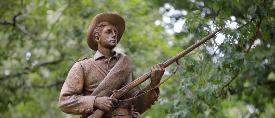 A statue of a Confederate soldier nicknamed Silent Sam stands on the campus of the University of North Carolina in Chapel Hill, North Carolina, U.S. August 17, 2017. REUTERS/Jonathan Drake