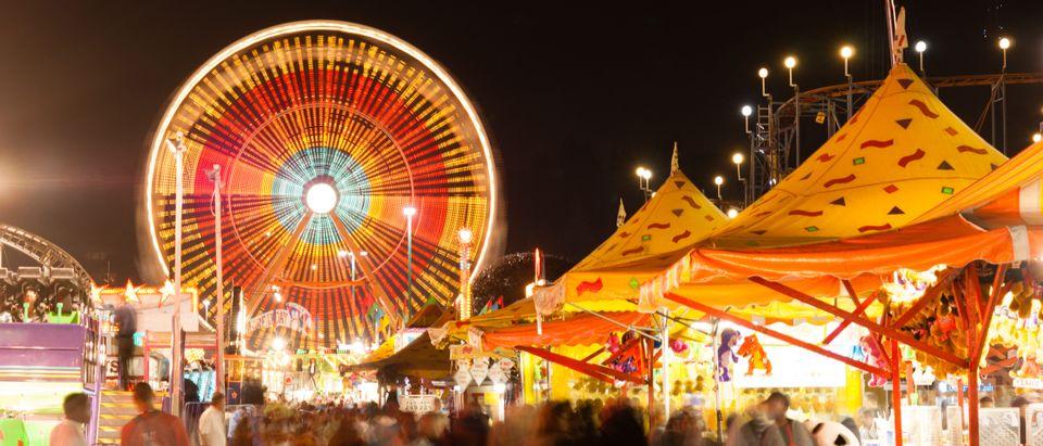 State Fair at night