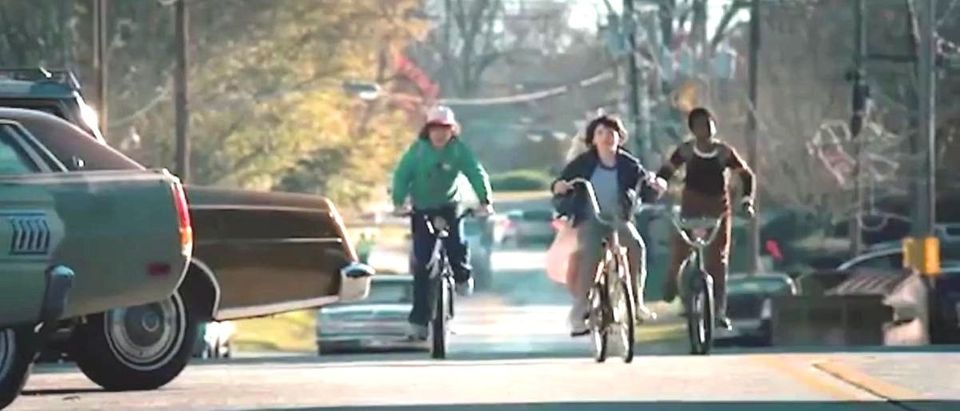 Stranger Things kids on bikes YouTube screenshot IMDb