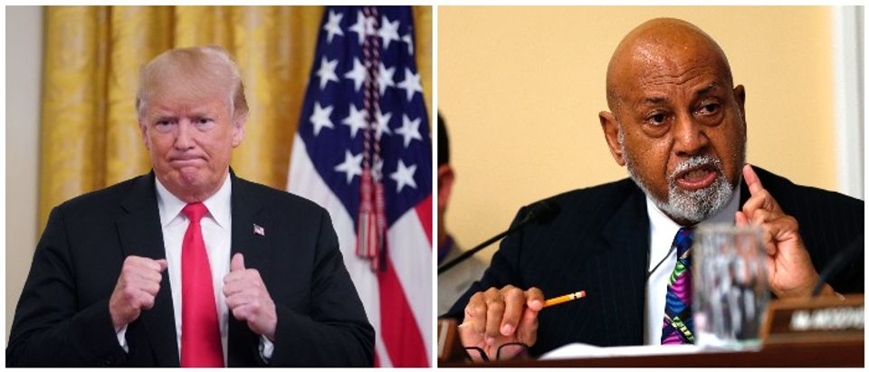 Hastings joked about Trump drowning (LEFT: MANDEL NGAN/AFP/Getty Images RIGHT: Win McNamee/Getty Images)