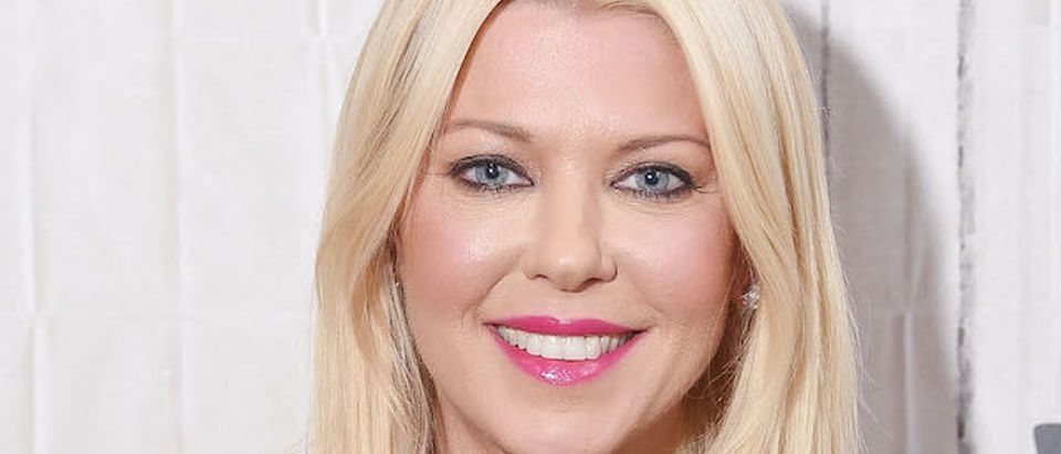 """Actress Tara Reid visits the Build Series to discuss the film """"Sharknado 5: Global Swarming"""" at Build Studio on August 3, 2017 in New York City. (Photo by Michael Loccisano/Getty Images)"""