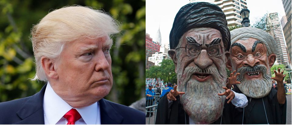 Trump and Iran Reuters Jonathan Ernst Getty Images Don Emmert