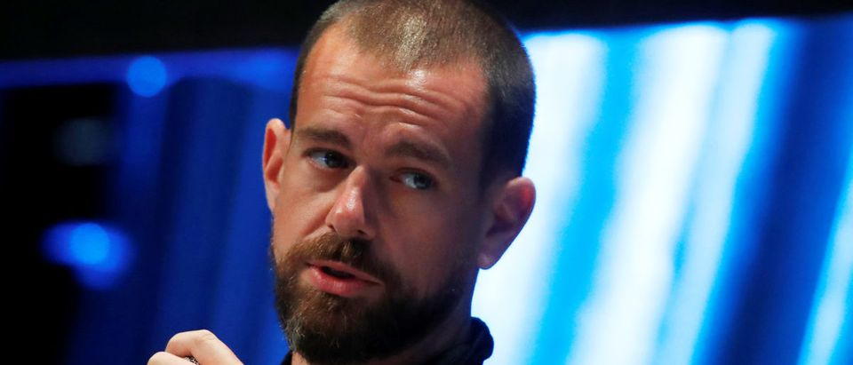 Jack Dorsey, CEO and co-founder of Twitter and founder and CEO of Square, speaks at the Consensus 2018 blockchain technology conference in New York City, New York, U.S., May 16, 2018. REUTERS/Mike Segar
