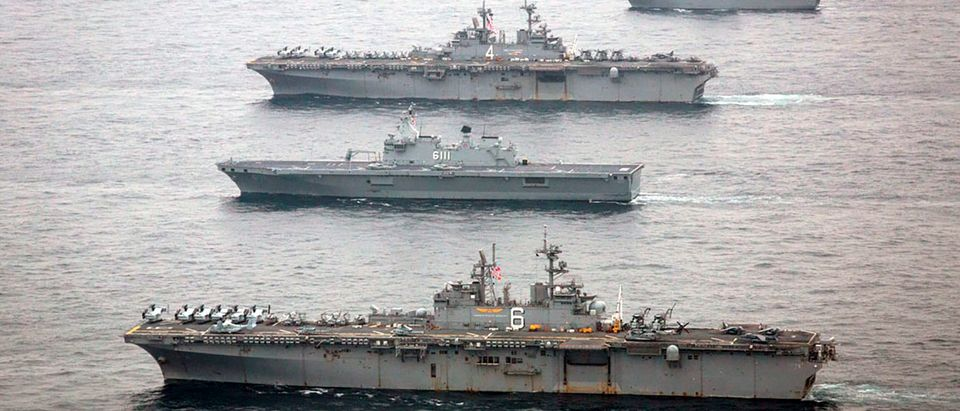 Warships Participate In Exercise Ssang Yong 2016