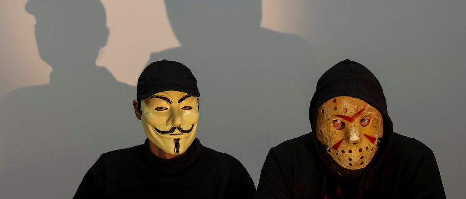 Hackers from Ukrainian hactivist group RUH8 are seen during an interview with Reuters in Kiev, Ukraine, November 3, 2016. REUTERS/Gleb Garanich