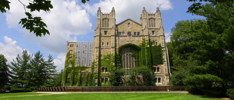 A University of Michigan building is featured on a pretty day. (Shutterstock/SNEHIT)