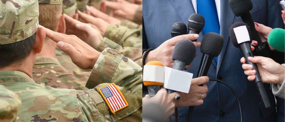 Military vs. Journalists, Shutterstock/ By Microgen and Bumble Dee