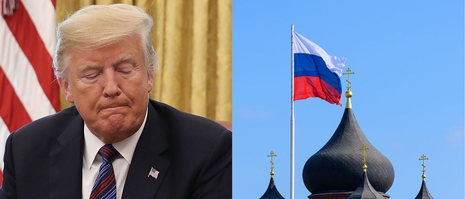 Trump vs. Russia, Getty and Shuttertsock/ By Win McNamee and Link Art