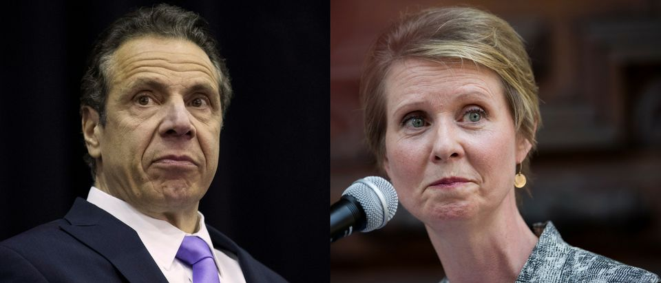 Andrew Cuomo and Cynthia Nixon are set to debate August 29, 2018. Drew Angerer/Getty Images