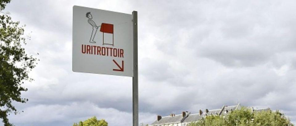 Open-air public urinal in Paris
