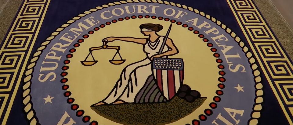 The seal of the West Virginia Supreme Court of Appeals. (YouTube screenshot)