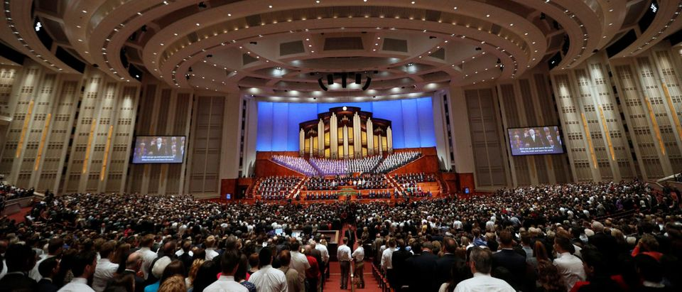 Members from around the world gather in the Conference Center for the Church of Jesus Christ of Latter-day Saints 187th semiannual general conference in Salt Lake City, Utah, U.S., September 30, 2017. REUTERS/George Frey