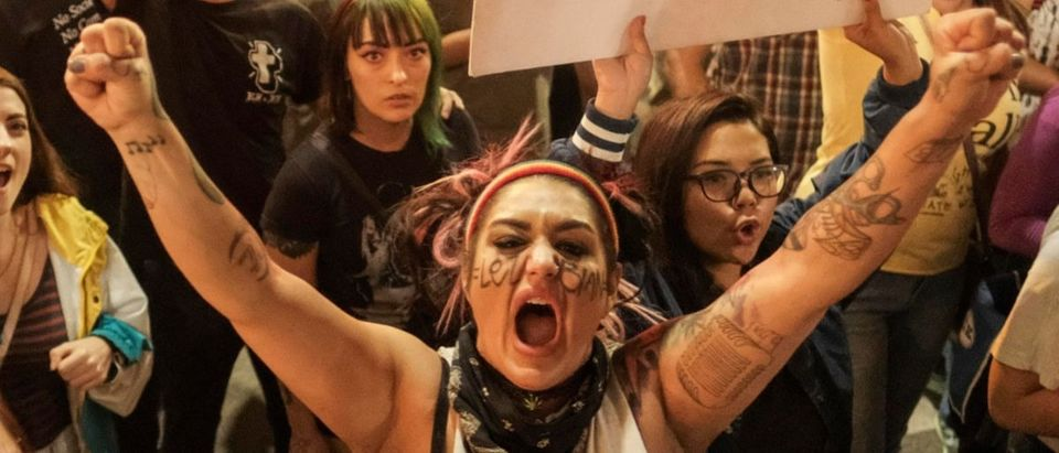 angry protester AFP/Getty Images/Ringo Chiu