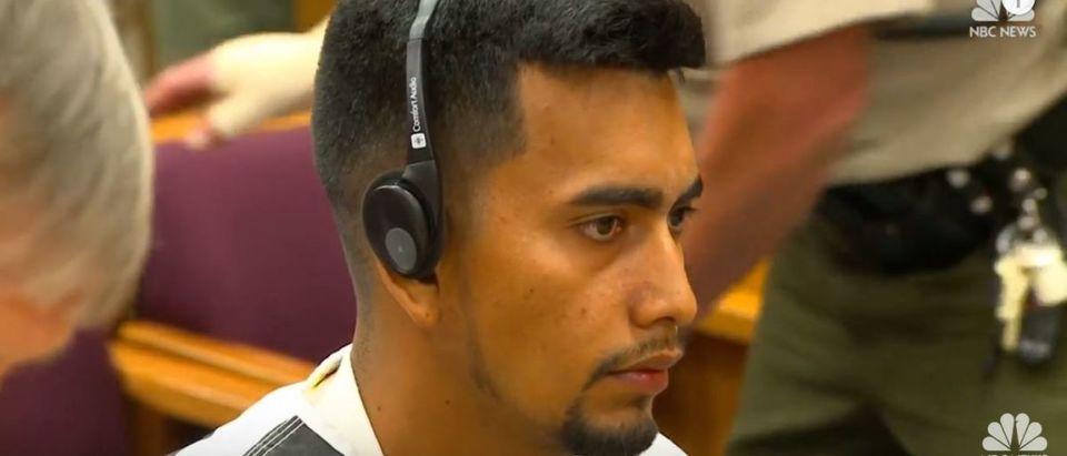 Cristhian Bahena Rivera appears in court on Aug. 22, 2018. YouTube Screenshot/NBC News