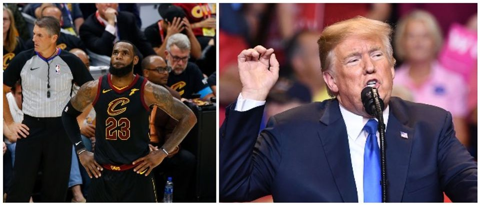 LeBron James and Donald Trump after Trump insulted James on Twitter (LEFT: Justin K. Aller/Getty Images RIGHT: MANDEL NGAN/AFP/Getty Images)