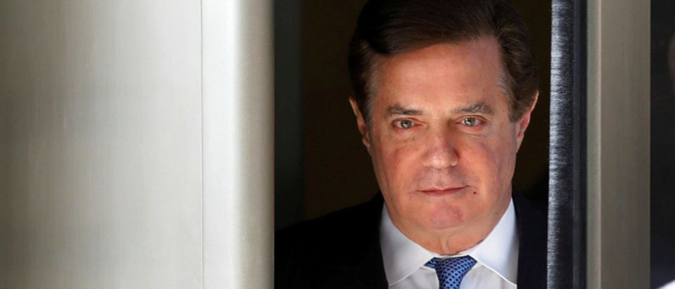 Former Trump campaign manager Paul Manafort departs from U.S. District Court