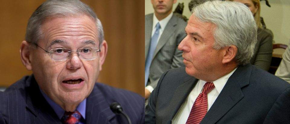 Democratic Sen. Bob Menendez and Republican candidate Bob Hugin will face off in New Jersey's elections November. Chip Somodevilla/Getty Images (L) Ron Sachs - Pool/Getty Images (R)