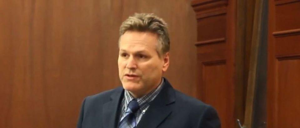 Alaska Republican gubernatorial nominee Mike Dunleavy appears in a video posted on April 16, 2015. YouTube screenshot/Senator Mike Dunleavy