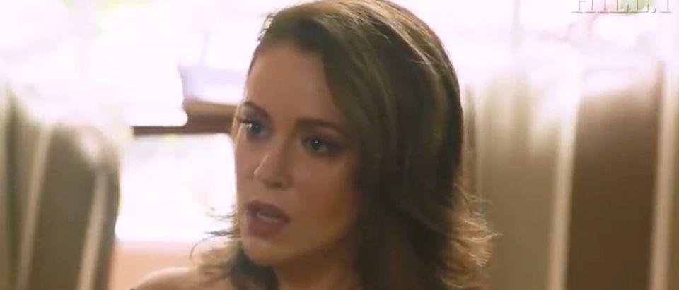 Alyssa Milano appears on The Hill TV./Screenshot