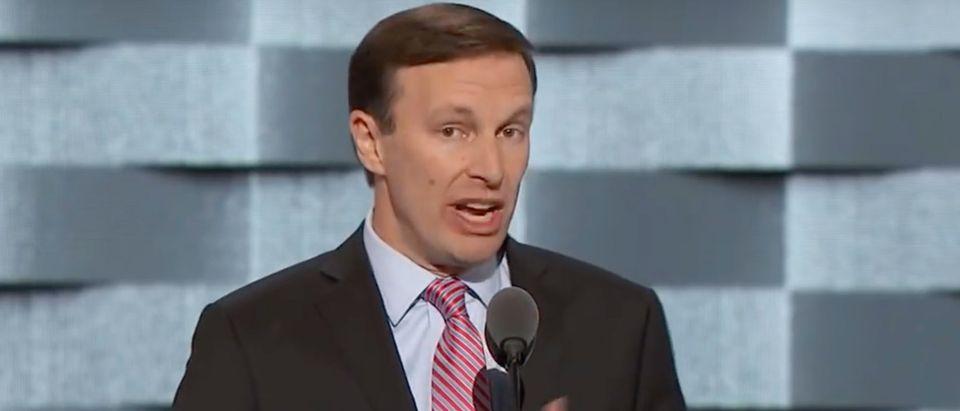 Sen. Chris Murphy speaks at the DNC./Screenshot