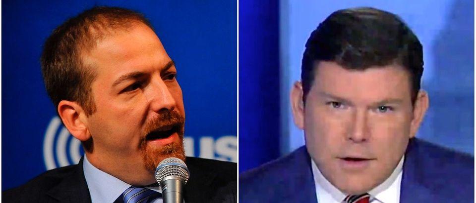 Left: Chuck Todd (Getty), Right: Bret Baier (Fox News)