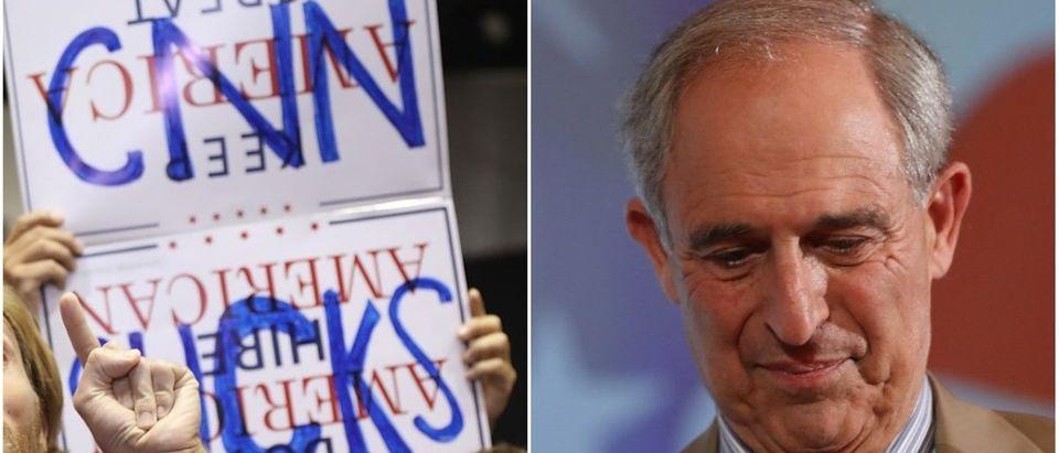 Left: CNN Sucks, Right: Lanny Davis (Getty Images)