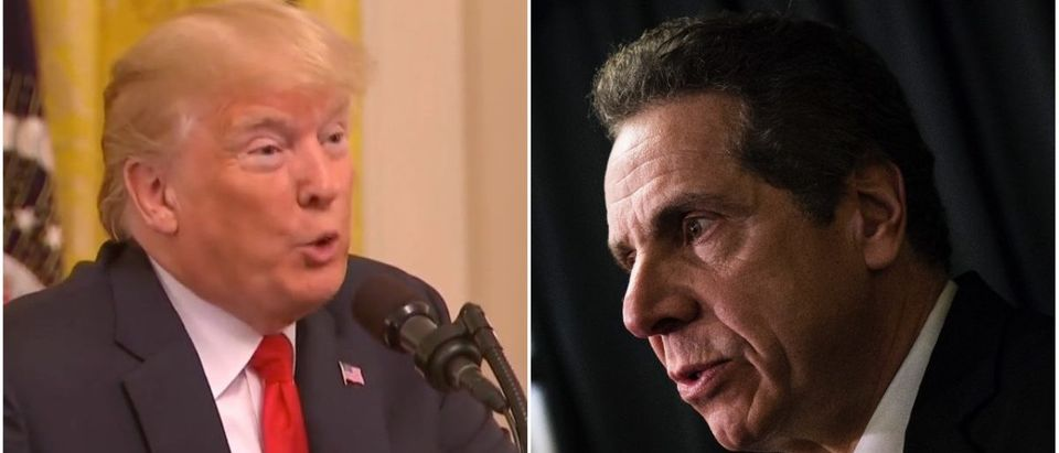 Left: Donald Trump (Fox News), Right: Gov. Andrew Cuomo (Getty Images)