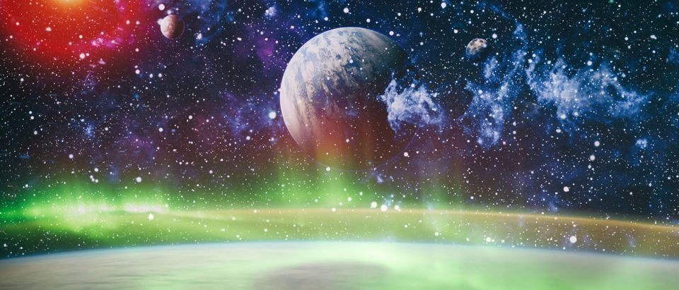 A planet moves through space. Shutterstock image via user Zakharchuk
