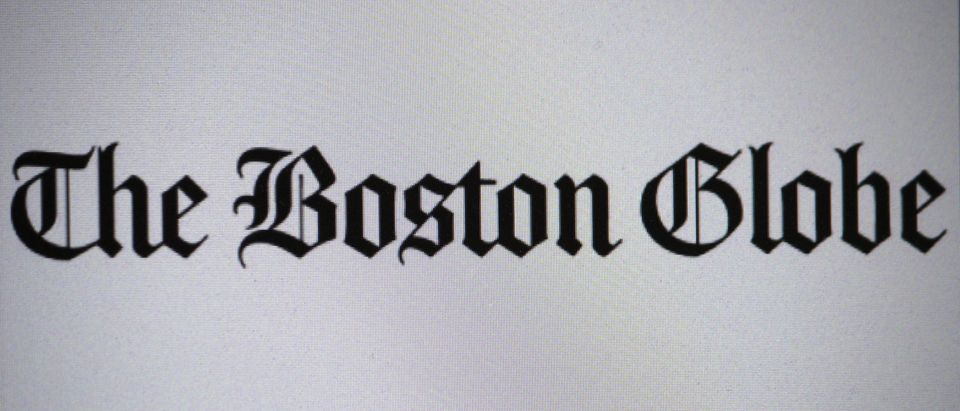 The Boston Globe homepage screen, Shutterstock/ By 360b