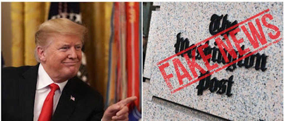 Left: Donald Trump, Right: Washington Post