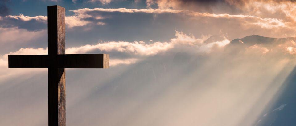A Christian Cross (Shutterstock/a. m. dan)