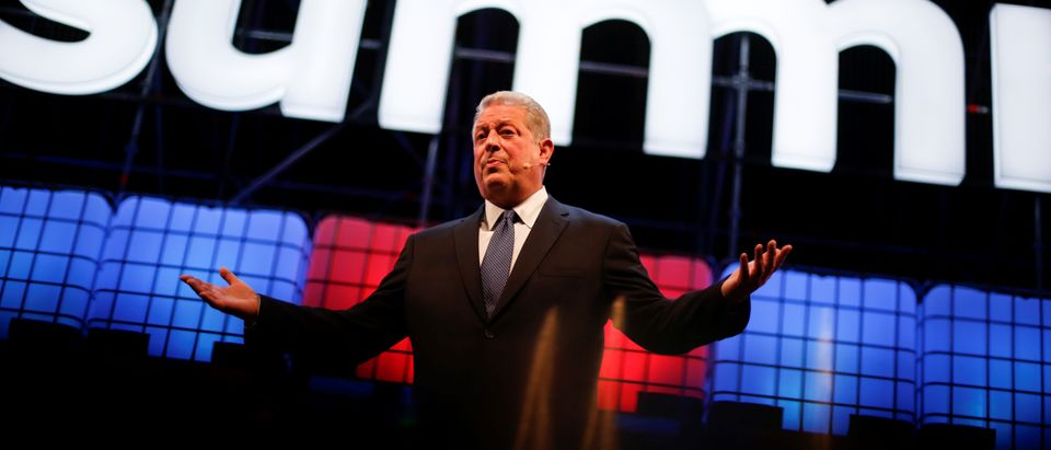 Al Gore, chairman of Generation Investment Management, speaks during the Web Summit, Europe's biggest tech conference, in Lisbon