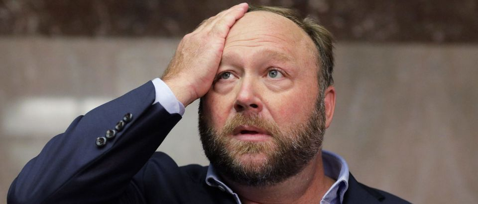 Alex Jones of Infowars visits U.S. Senate as Twitter CEO Dorsey testifies at Senate Intelligence Committee hearing on Capitol Hill in Washington