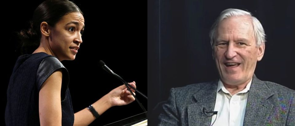 """LEFT: Alexandria Ocasio-Cortez speaks at the Netroots Nation annual conference for political progressives in New Orleans, August 4, 2018. REUTERS/Jonathan Bachman. RIGHT: Anthony Pappas speaks with """"Long Island Backstory."""" (Photo: Screenshot/YouTube/Long Island Backstory)"""