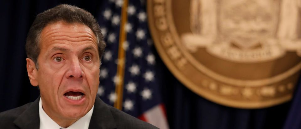 New York Governor Andrew Cuomo speaks during a news conference in New York
