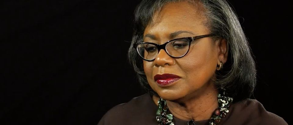 Pictured is Anita Hill. (YouTube screenshot/The Washington Post)
