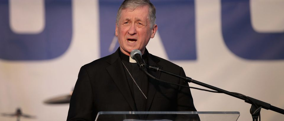 CHICAGO, IL - JUNE 15: Cardinal Blase Cupich speaks at an end of school year peace rally on June 15, 2018 in Chicago, Illinois. Chicago natives Jennifer Hudson and Chance the Rapper, students from Marjory Stoneman Douglas High School and former Rep. Gabrielle Giffords were guests at the rally. (Photo by Scott Olson/Getty Images)