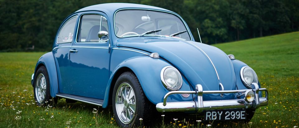 Blue old fashioned Beetle