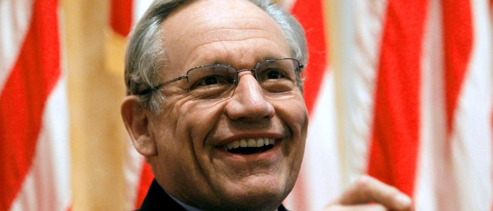 FILE PHOTO: Bob Woodward, former Washington Post reporter, discusses about Watergate Hotel burglary and stories for the Post at Richard Nixon Presidential Library in Yorba Linda