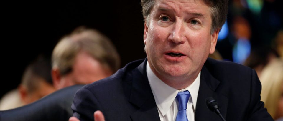 Supreme Court nominee Kavanaugh testifies during his confirmation hearing before the Senate Judiciary Committee in Washington.
